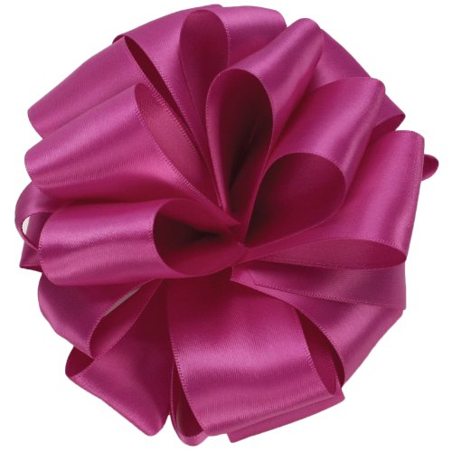 Offray Double Face Satin Craft Ribbon, 5/8-Inch Wide by 50-Yard Spool, Wild Berry