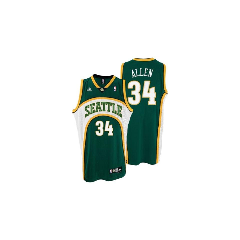 Ray Allen Seattle Sonics Green Swingman Adidas NBA Jersey X Large on ... 209574a6b
