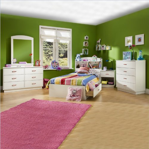 Kids Wood White Captain'S Bed 5 Piece Bedroom Set front-871473