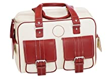 Jill.e Designs Medium Bone Leather Camera Bag 071286 (Red)