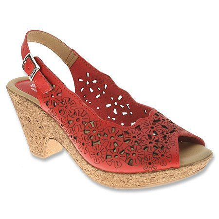 Spring Step Women'S Red Leather Trixiebelle 35 M Eu front-130386