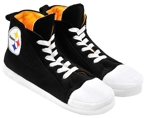 Pittsburgh Steelers NFL Football High Top Sneaker Style Slippers Size Large 11-12 at Amazon.com
