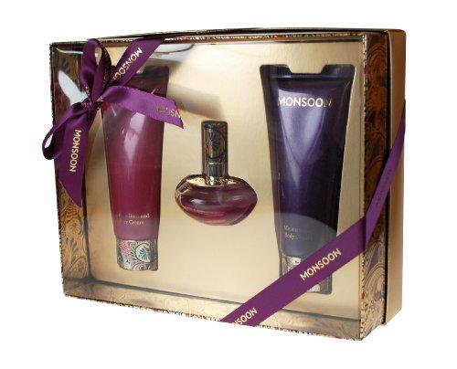 Monsoon Gift Set includes Eau de Toilette 30ml/ Body Cream 100ml/ Bath and Shower Cream 100ml