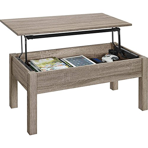 Gracelove Wood Lift-Top Coffee Table Computer book desk, Multiple Colors (Sonoma Oak)