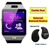 #9: SAMSUNG Galaxy Note 5 Dual Compatible Ceritfied SW Bluetooth Smart Watch Phone With Camera and Sim Card Support With Apps like Facebook and WhatsApp Touch Screen Multilanguage Android/IOS Mobile Phone Wrist Watch Phone with activity trackers and fitness band(Assorted Color) with FREE GIFT