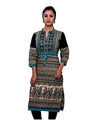 Adesa Women's Cotton Chikankari Regular Fit Kurti - B00VHSKCSE