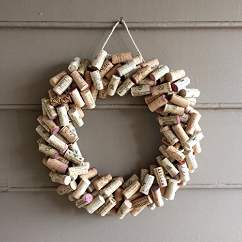 Wine Cork Wreath - Home Decor 14""
