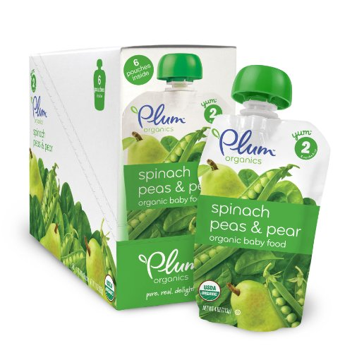 Plum Organics Baby Second Blends, Spinach, Peas