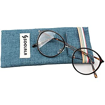SOOLALA Unisex Vintage Inspired Round Circle Reading Glasses Customized Strengths