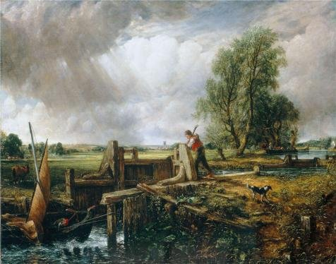 'John Constable,The Lock,1824' oil painting, 30x38 inch / 76x97 cm ,printed on high quality polyster Canvas ,this Amazing Art Decorative Prints on Canvas is perfectly suitalbe for Kids Room decor and Home decor and Gifts (Job Ticket Holders 8 1 2 X 11 compare prices)