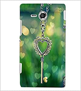 PrintDhaba Heart Pendant D-2463 Back Case Cover for SONY XPERIA SP (Multi-Coloured)