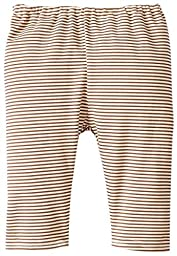 Zutano Unisex-Baby Newborn Candy Stripe Pant, Chocolate, 3 Months