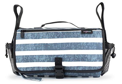 Anvy & Me Touring Universal Stroller Organizer Double Use: Elegant Organizer For Stroller & On The Go Travel Diaper Bag (Stripes)