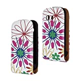 SuperStore_Electronics(TM) Stylish Printing Retro Style Durable Slim-Fit Flip PU Leather Protective Defense Stand Case Cover Compatible For Samsung S5360 Galaxy Y (colorful flower)
