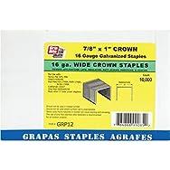 Prime Source Pneumatic GRP12 P Wide Crown Finish Staple-16GA 1X7/8 STAPLE