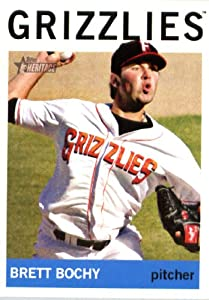 2013 Topps Heritage Minor League Baseball Card # 190 Brett Bochy Fresno Grizzlies by Topps