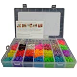 3000 DIY SET Mixed Colour Rainbow Rubber Loom Bands Bracelet Making Kit S-Clips