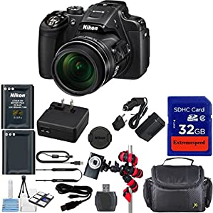 Nikon Coolpix P610 Wi-Fi Digital Camera (Black) + 12pc Bundle Kit - International Version