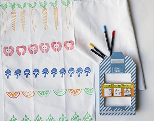 Market Tea Towel Stencil Kit