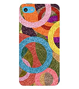 Circular Abstract Painting 3D Hard Polycarbonate Designer Back Case Cover for Apple iPod Touch 6 (6th Generation)