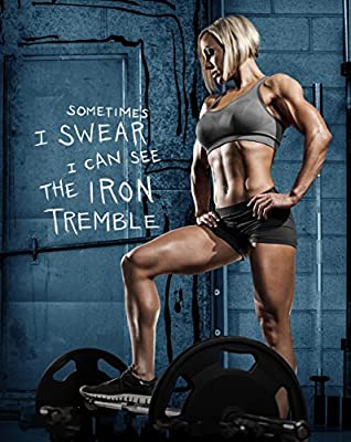 "Jessie Hilgenberg Bodybuilding athlete Fabric Cloth Rolled Wall Poster Print -- Size: (28"" x 24"" / 16"" x 13"")"