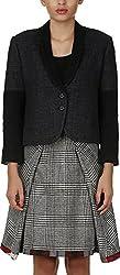 Baba Rancho Women's Regular Fit Coat (C 00201_L, Dark Grey, L)