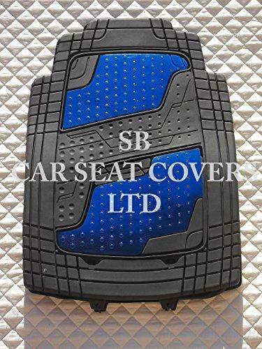 kia-sedona-pvc-quadri-in-alluminio-blu-tappetini-auto-universale-4-pezzi-set