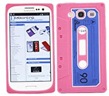 buy Italkonline Softskin Cassette Tape Retro Hot Pink Blue Super Hydro Silicone Protective Armour/Case/Skin/Cover/Shell For Samsung I9300 Galaxy S3 Iii