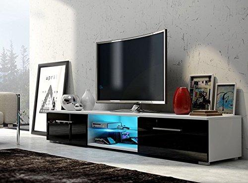 tv lowboard schrank nessy mit led beleuchtung. Black Bedroom Furniture Sets. Home Design Ideas