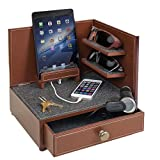 "Great Useful Stuff ""Rustic Modern"" Corner Multi-Device Charging and Sunglass Station with Drawer & USB/AC Power Strip Reviews"