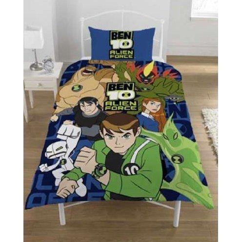 New Kids Childrens Ben Alien Force Bedding Duvet Quilt Cover Set Twin Bed Blue