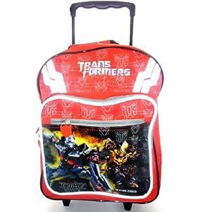Neue Transformers großen roten gepolsterten Rucksack roller Trolley auf Rädern Tasche 301556