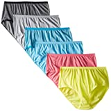 Fruit of the Loom Women's 6 Pack Beyond Soft Brief Panties, Assorted, 8