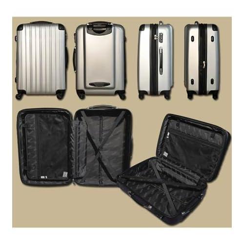 ダブルファスナー機能搭載!【MOA(モア)スーツケース】ジッパー四輪鏡面6230 (Sサイズ20インチ(1?3泊目安), ローズピンク)