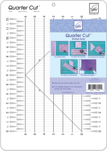 June Tailor 11-1/4-Inch-by-16-Inch Quarter Cut Slotted Ruler