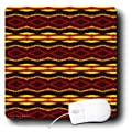 3dRose LLC 8 x 8 x 0.25 Inches Mouse Pad, Fyre Trybe Tribal Retro Geometric Pattern Abstract Textile (mp_31314_1)