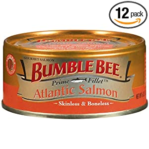 bumble bee prime fillet atlantic salmon 6 ounce cans pack of 12 salmon seafood. Black Bedroom Furniture Sets. Home Design Ideas