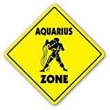 AQUARIUS ZONE Sign novelty gift zodiac horoscope