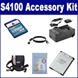 Nikon Coolpix S4100 Digital Camera Accessory Kit includes: ZELCKSG Care & Cleaning, KSD2GB Memory Card, CL2 Case, USB4PIN USB Cable, ACD338 Battery