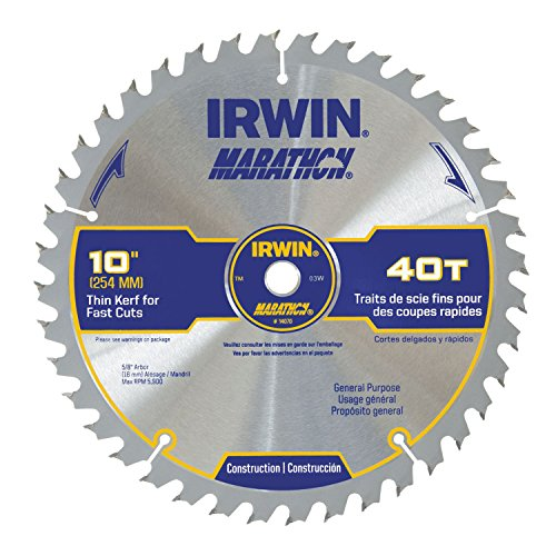 Irwin Industrial Tools 14070 10-Inch 40-Teeth 5/8-Inch Arbor Miter and Table Saw Blade