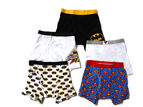 Justice League Little Boys' Boxer Brief Size 4 (Pack of 5)