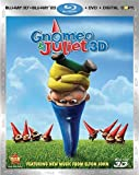 Image de Gnomeo and Juliet (Three-Disc Combo: Blu-ray 3D/Blu-ray/DVD + Digital Copy)