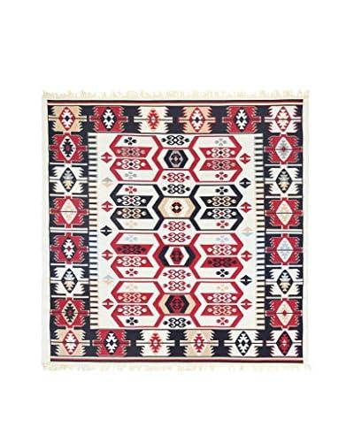 Floor Decor Alfombra Doubleface Osman Rojo/Marfil/Multicolor