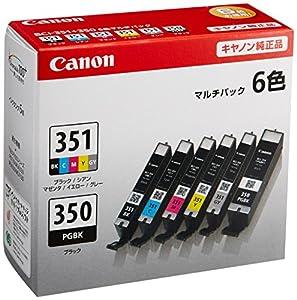 Canon インクタンク BCI-351(BK/C/M/Y/GY)+BCI-350 6色マルチパック BCI-351+350/6MP