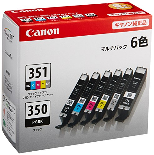 Canon Canon genuine ink cartridge BCI-351 (BK/C/M/Y/GY) BCI-350 6 color multi-pack BCI-351 350 / 6 MP