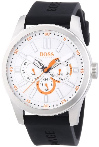 Boss Orange Big Up Multieye 1512934 Mens Quartz Analog Watch, Black Silicone Strap