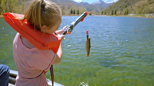 Rocket fishing rod ready to fish kids fishing pole for Kids fishing poles