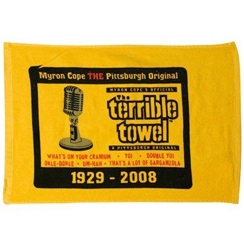 Pittsburgh Steelers Commemerative Myron Cope Terrible Towel at Steeler Mania