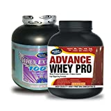 Whey Extreme 100% 1kg Banana& ADVANCE WHEY PRO 20gm Protein Per 33gm 2kg Chocolate Flavour (Combo Offer)