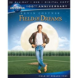 Field of Dreams [Blu-ray + DVD + Digital Copy] (Universal's 100th Anniversary)